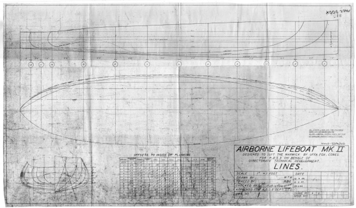 Original Lines Plan